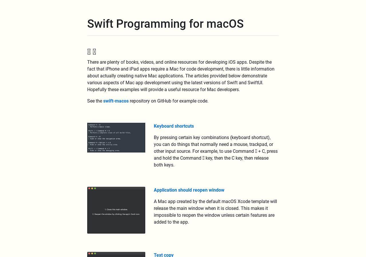 🖥 Swift macOS